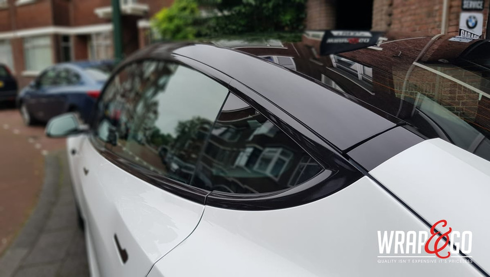 Tesla Model 3 Chrome Delete, Dakbogen zw
