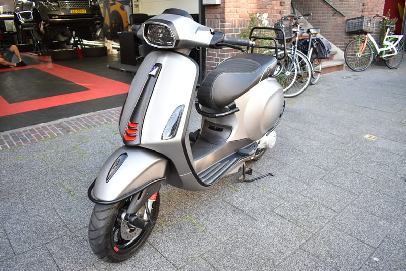 Vespa Scooter Wrap Brushed Steel
