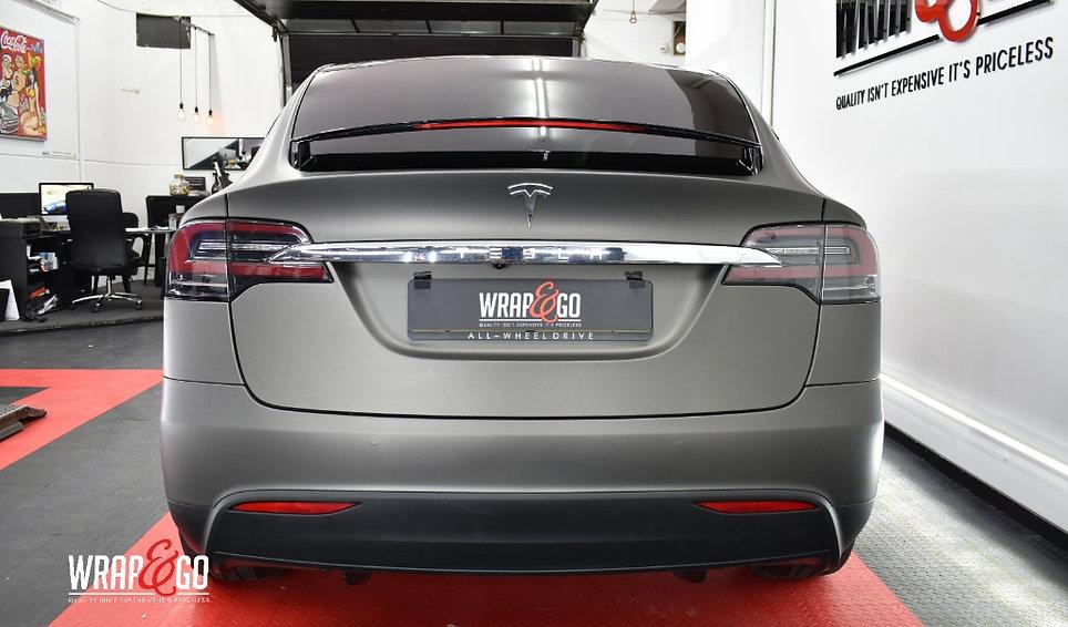 Tesla Model X 3M Matte Charcoal Carwrap