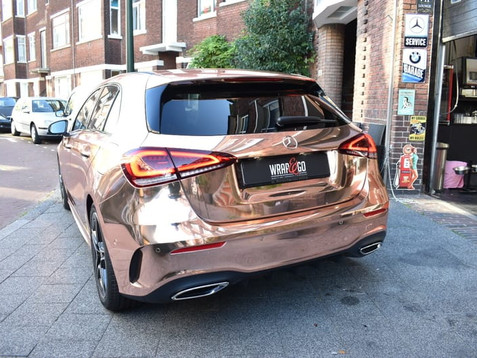 Mercedes A-Klasse Rose Gold Chrome Car W