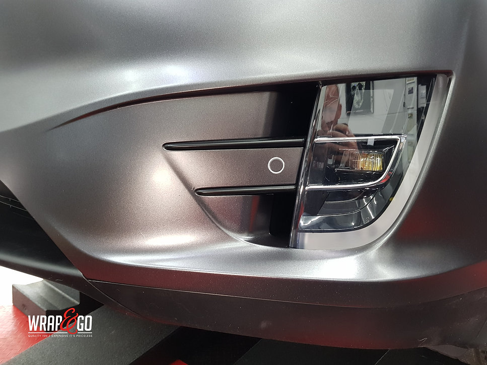 Foglight Carwrap Tesla Model X 3M Satin Grey WrapAndGo