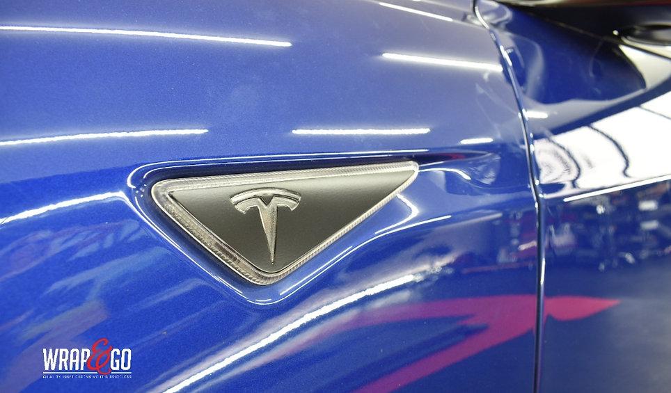 Tesla Model S Carwrap Autowrap Knipperlicht