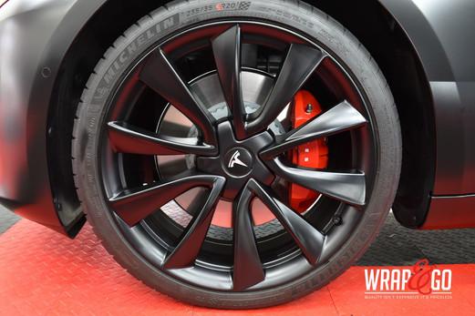 Tesla Model 3 All Satin Black Velgen