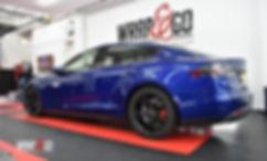 Tesla Model S Carwrap Autowrap Achterkant