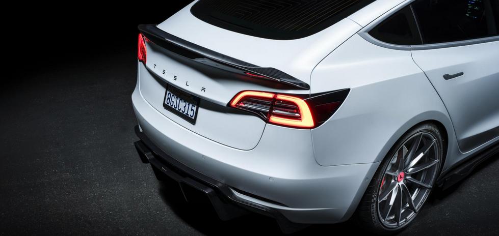 Tesla Model 3 Vorsteiner wielen bodykit