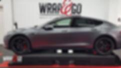 Tesla Mode S 3M Satin Dark Grey, satin black