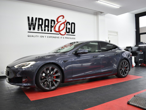 Tesla Model S Matte Black Chrome Delete
