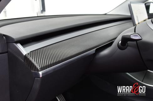 Tesla Model 3 Carbon Interieur