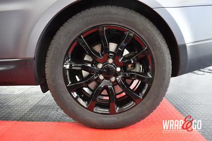 Land Rover wielen spuiten hoogglans zwar