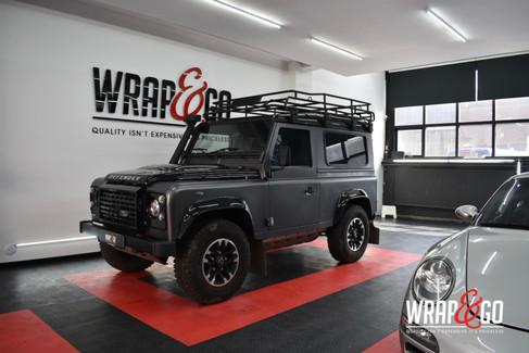 Land Rover Defender Car Wrap Satin Dark
