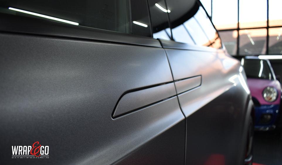 Doorhandle Carwrap Tesla Model X 3M Dark Satin Grey WrapAndGo