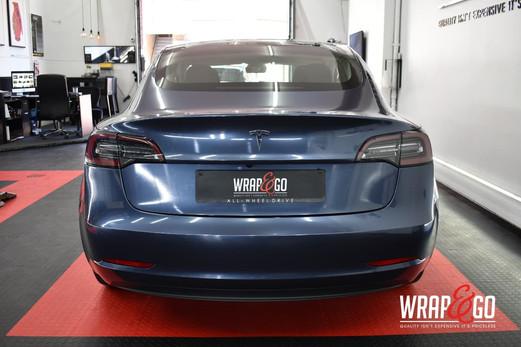 Tesla Model 3 Carwrap Gloss Glacier Grey