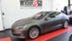 Front Carwrap Tesla Model 3M Matte Charcoal WrapAndGo