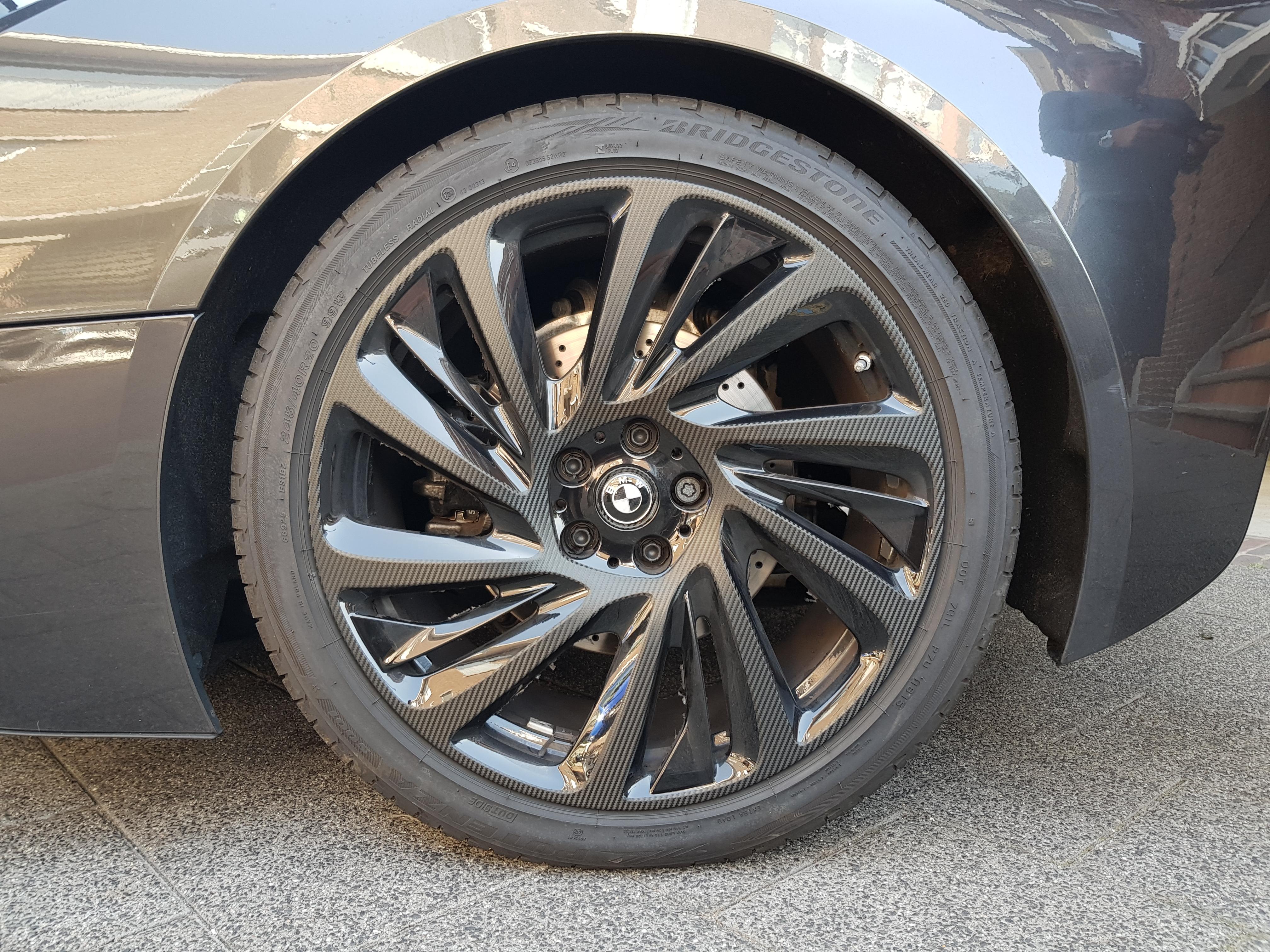 Velgen Wrappen Carbon BMW i8