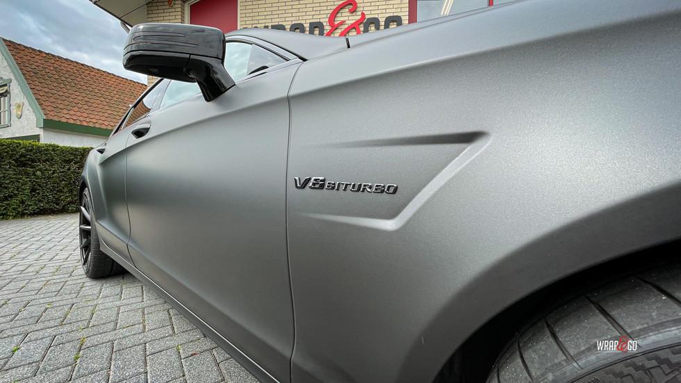 Mercedes CLS AMG 3M Matte Metallic Black