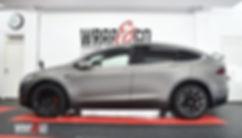 Tesla Model X 3M Matte Charcoal Carwrap zijkant