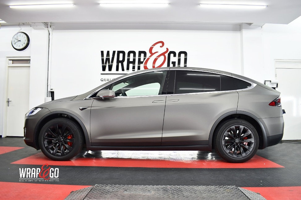 Tesla Model X Carwrap 3M Matte Dark Grey