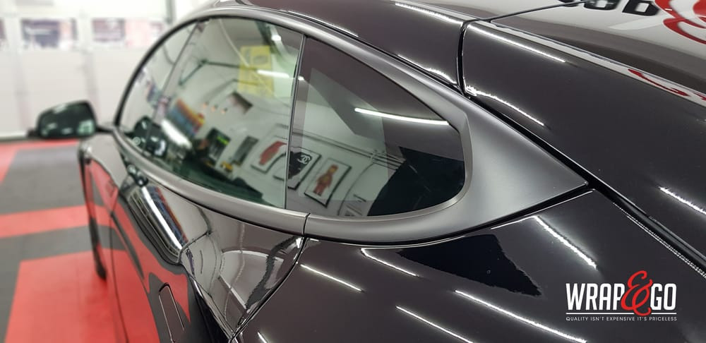 Tesla Model S Chrome Delete Wrap