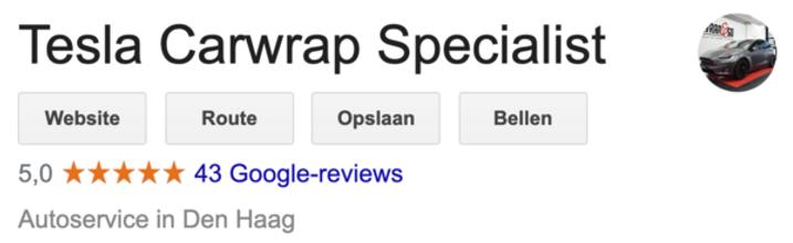 5 sterren recensie Google