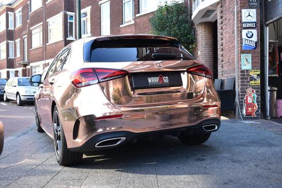 Mercedes Chrome Car Wrap Rose Gold