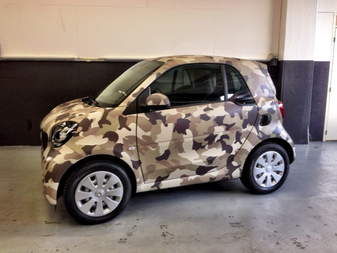 Smart Camouflage Car Wrap