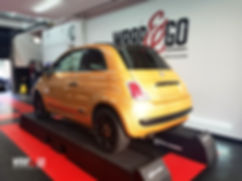 Carwrap Fiat 500 Avery Diamond