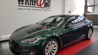 A.P.A. Britsh Green Car Wrap