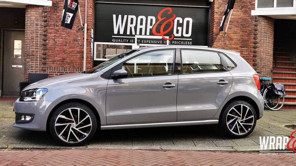 VW Polo Avery Gloss Rock Grey Wrap