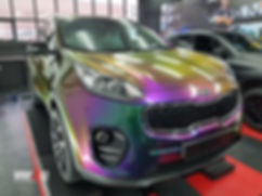 Kia Sportage Carwrap Avery ColorFlow door WrapAndGo links voor
