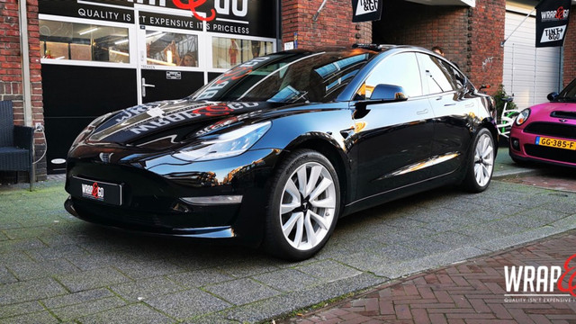 Tesla Model 3 Chrome Delete Glanzend zwa