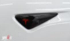 Tesla S Chrome Delete Carwrap Knipperlicht
