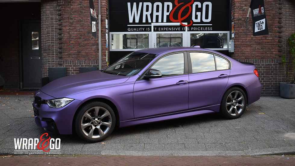 BMW Matte Purple Car Wrap Avery