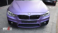 BMW Matte Purple Car Wrap Avery