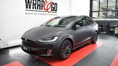 Tesla Model X 3M Matte Black Wrap