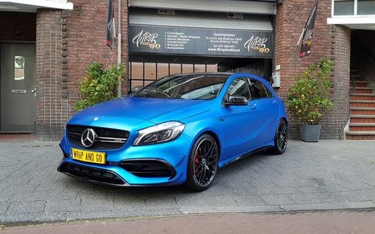 Mercedes A-Klasse A45 3M Satin Ocean Shimmer Blue Car Wrap