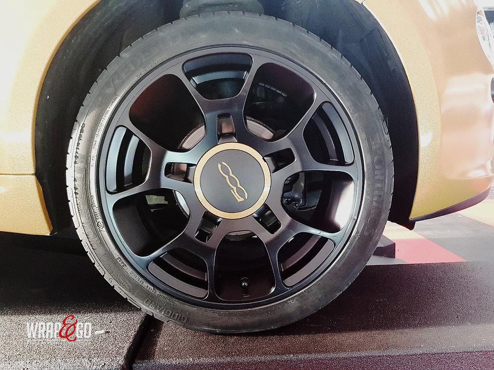 Carwrap Fiat 500 Avery Diamond