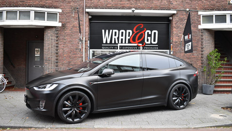 Tesla Model X Satin Black en Matte 3M