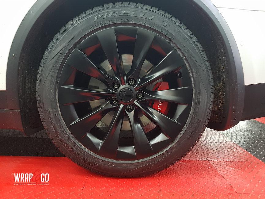 Tesla Model X Velgen Satin Black