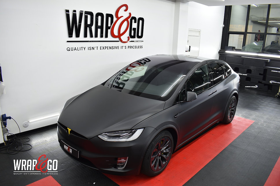 Tesla Model X 3M Matte Deep Black Wrap