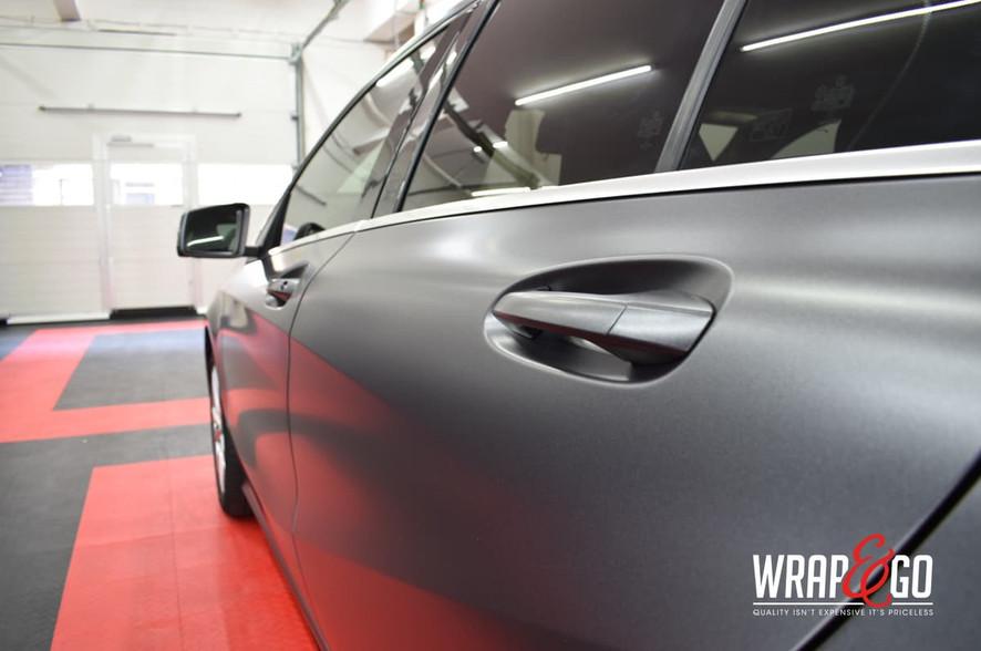 Mercedes A-klasse 3M Satin Dark Grey Car