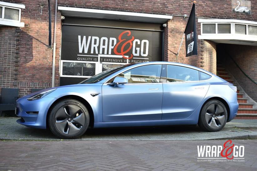 Tesla Model 3 3M Satin Ice Blue Metallic