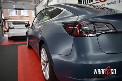 Tesla Model 3 3M Thundcloud Car wrap