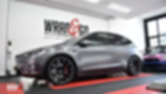 Carwrap Tesla Model X 3M Dark Satin Grey WrapAndGo