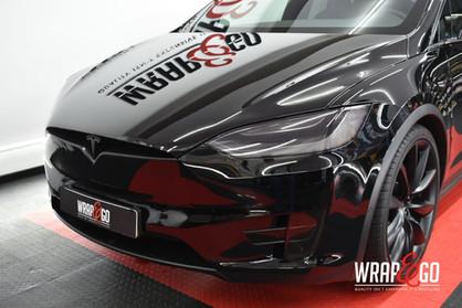 Tesla Model X Chrome Delete Wrap, Lampen