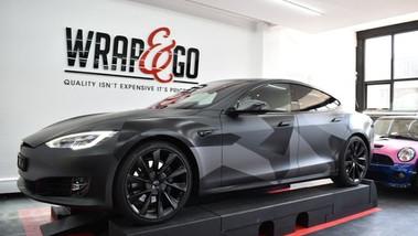 Tesla Model S Car wrap Camouflage Design