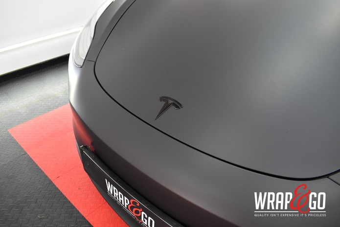 Tesla Model 3 3M Matte Black Wrap