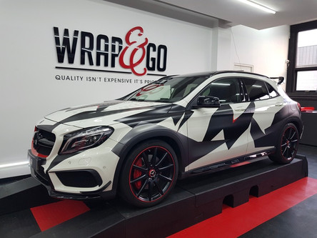 Mercedes A-klasse Camo wrap
