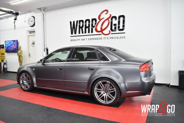 Audi RS4 3M Satin Dark Grey Car Wrap