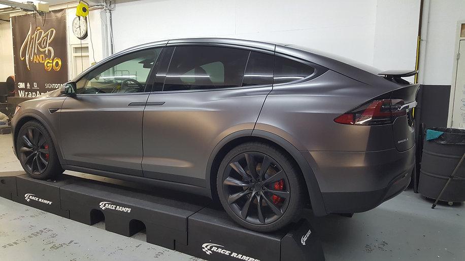 Carwrap Tesla Model X Autowrap