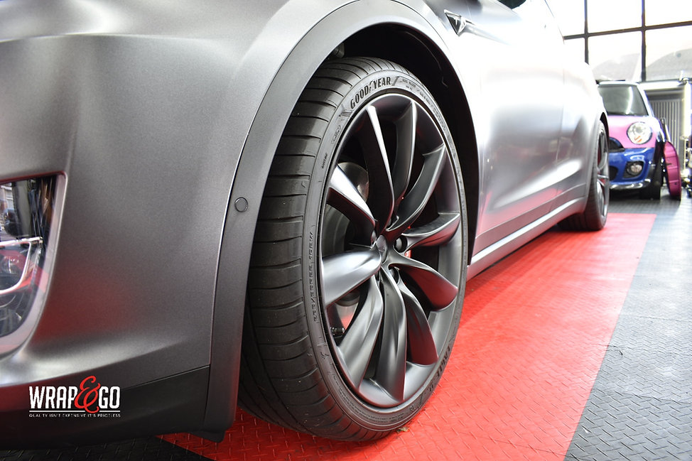 Tesla Model X Remklauwen Velgen spuiten